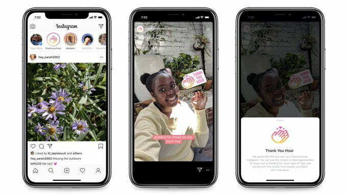 """Instagram Launches """"Thank You Hour"""" Sticker"""