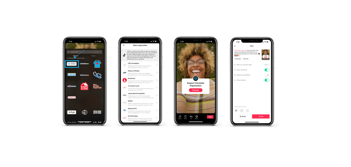 TikTok Launches Donation Stickers to fundraise