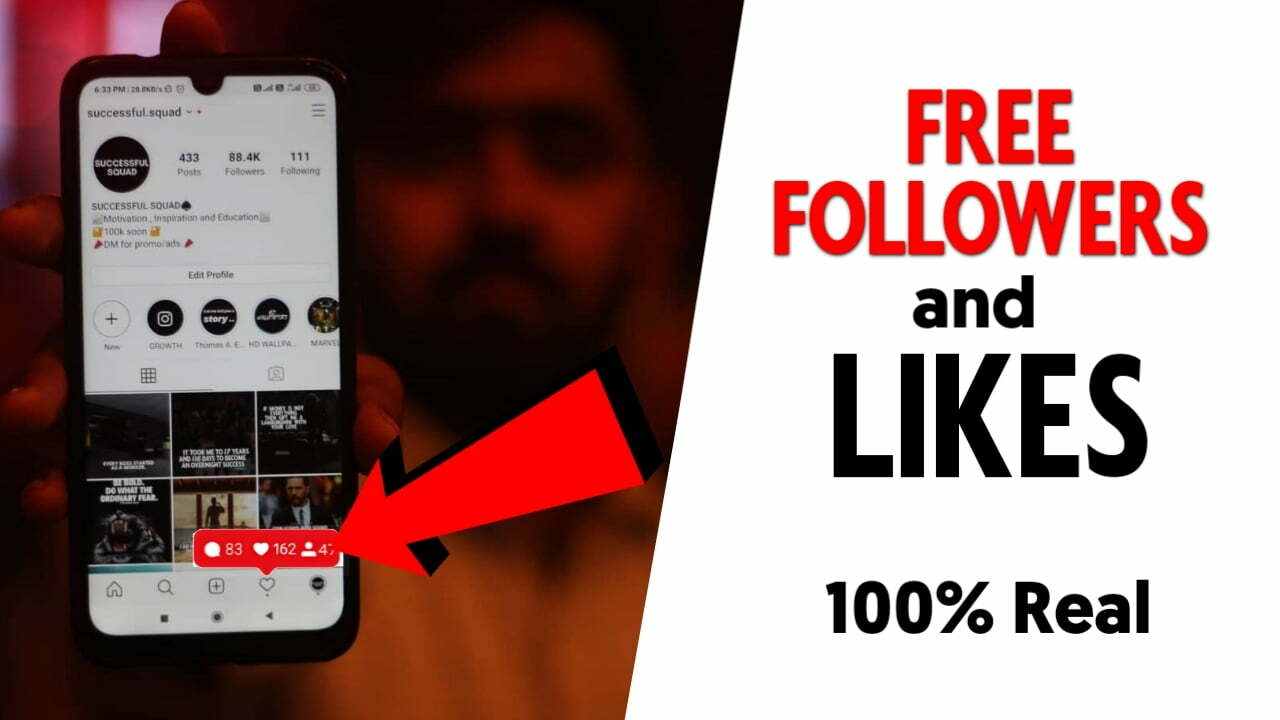 Get Free Real Instagram Followers & Likes