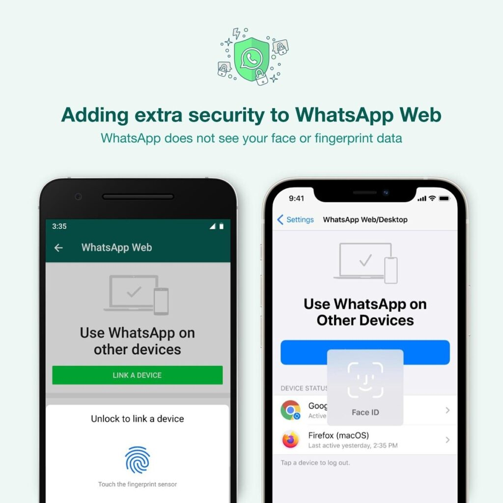 WhatsApp Web and Desktop now require biometric authentication before device linking