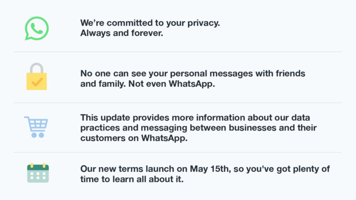 WhatsApp can't read or listen to their users data