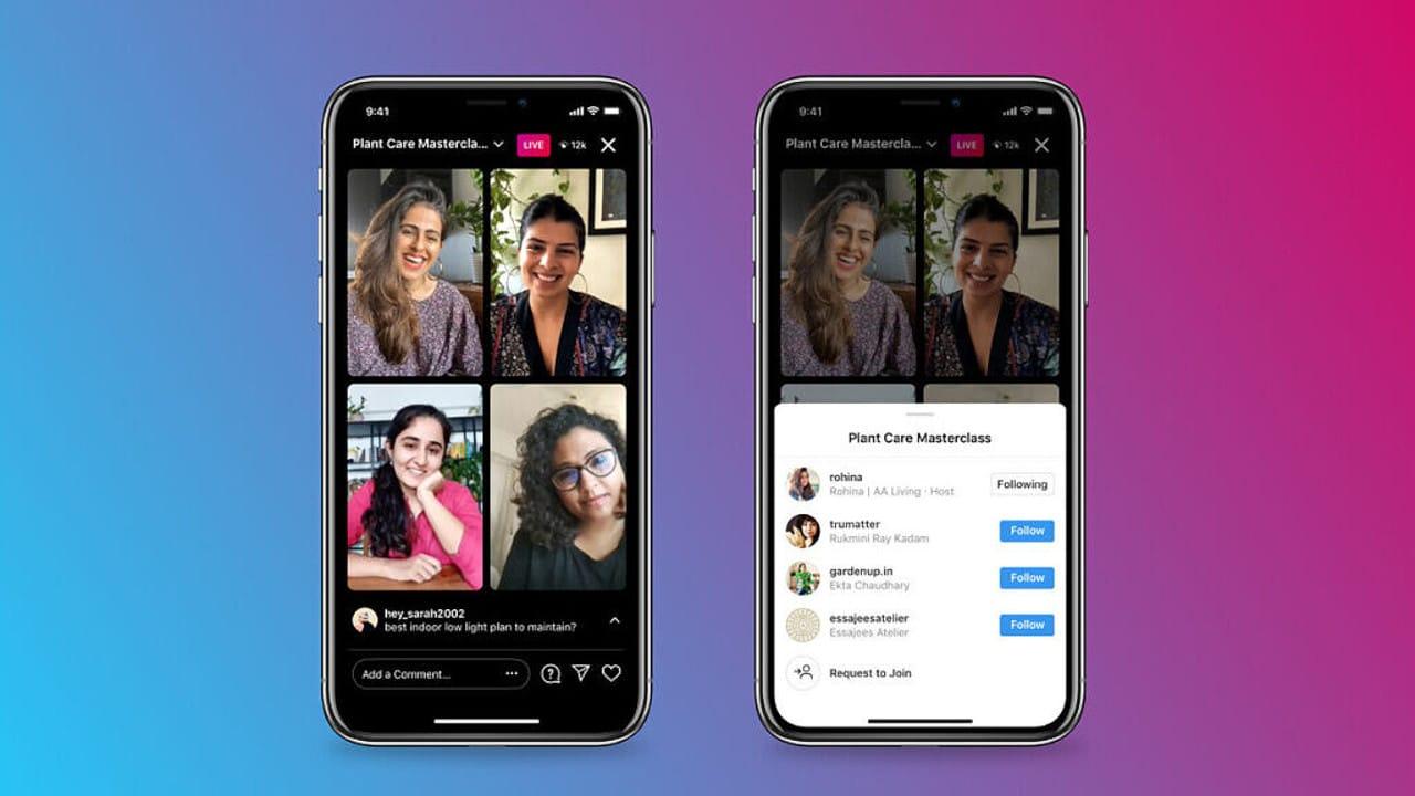 Instagram Multi-Participant Live-Streams Feature