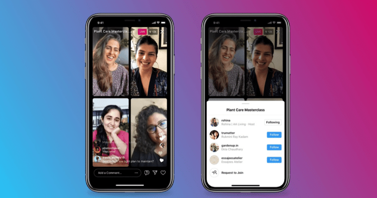 Instagram Letting Up to 4 People Go Live at Once